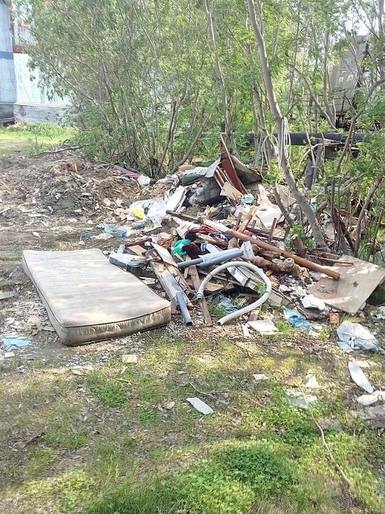 В Лабытнанги после ремонта возникла стихийная свалка