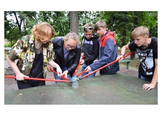 В Серпухове провели «Веревочный курс» для юных горожан