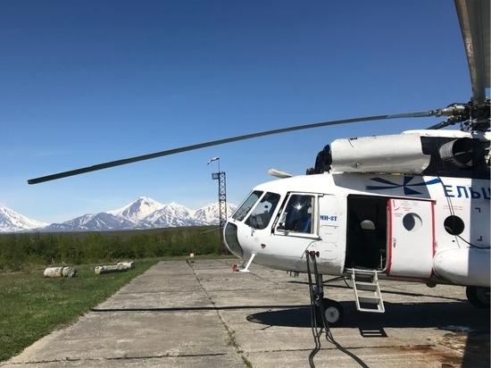 На Камчатке в Долине гейзеров чуть не упал вертолет