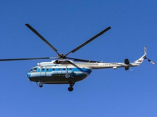 Вертолет, направлявшийся в Долину гейзеров, совершил жесткую посадку на Камчатке