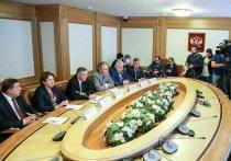 В понедельник в Госдуме был «день примирения»: российские парламентарии встречались со своими коллегами из Грузии