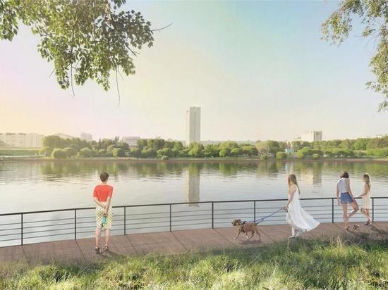 В зеленоградском Парке Победы появятся набережные для прогулок