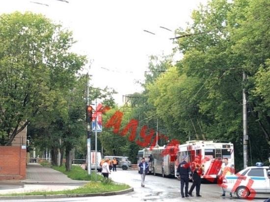 В Калуге при дорожных работах пробит газопровод