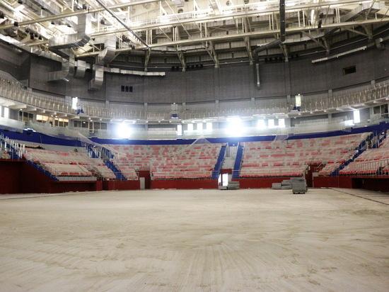 На «Саранск Арене» готовятся заливать пробный лёд
