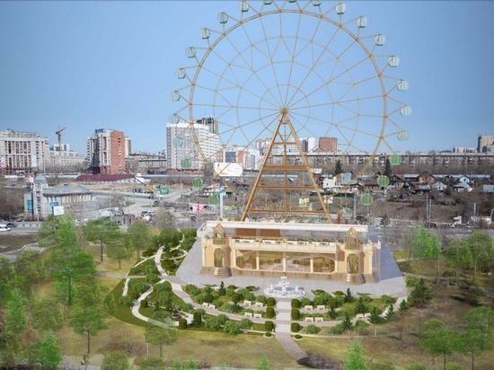 На набережной Оби устанавливают крупнейшее за Уралом колесо обозрения