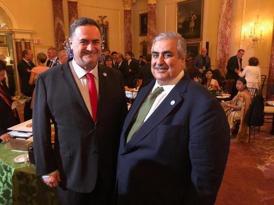 Министр иностранных дел Исраэль Кац встретился с главой МИД Бахрейна