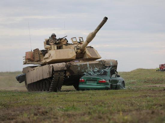 Снято видео боя Abrams и T-72