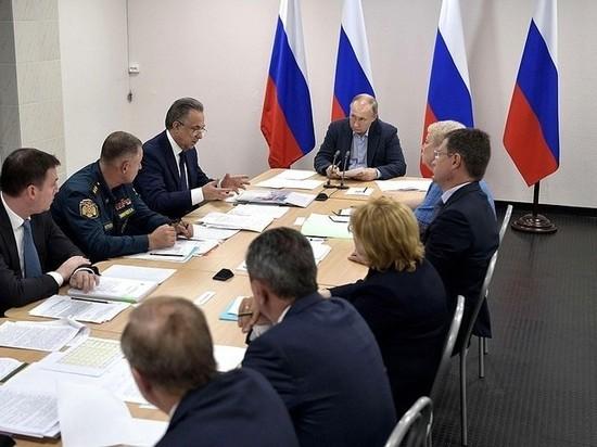 Путин возмутился темпами размещения пострадавших от наводнения в Иркутской области