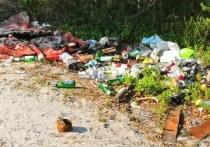Мусор и нижнее белье оставили неизвестные у озера под Ноябрьском