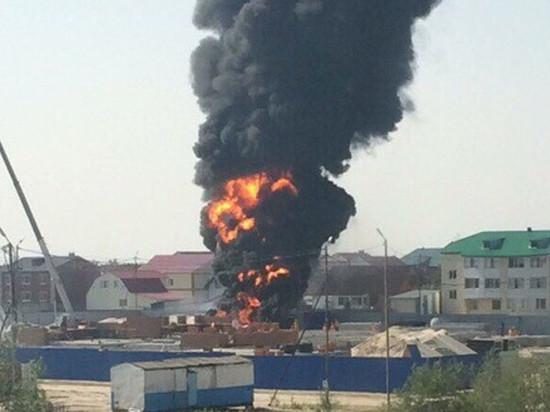 В строящемся детсаду в Тарко-Сале сгорели стройматериалы