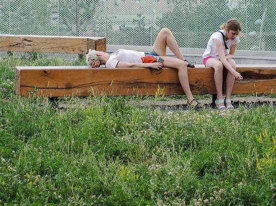 Лето пришло в Москву на один день