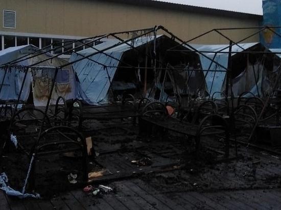 В Хабаровском крае сгорел детский палаточный лагерь
