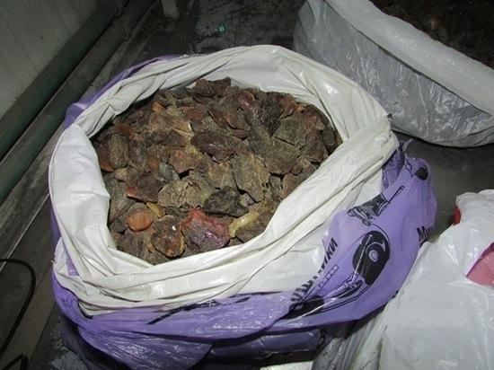 Калининградец пытался провезти в Литву 17 килограммов янтаря