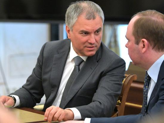 Володин потребовал извинений от президента Грузии за хамство
