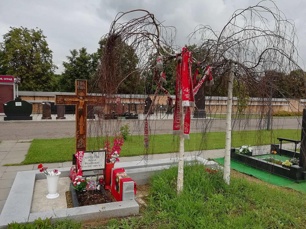 Ни следа обещанного памятника: как выглядит могила Черенкова в день его юбилея