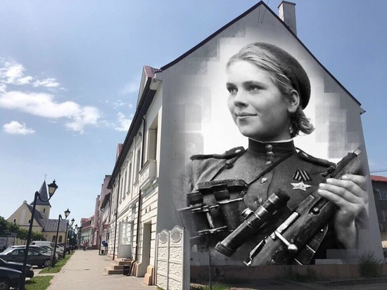 На фасаде дома в Гвардейске нарисуют девушку-снайпера
