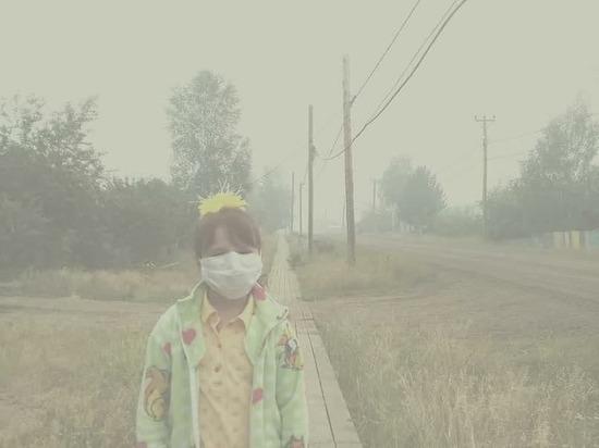 «Этим дышат дети»: показываем затянутый дымом поселок в Эвенкии