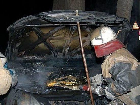 В Оренбурге на ходу загорелась машина