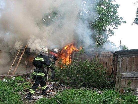 Массив сараев горел в районе Мордовии