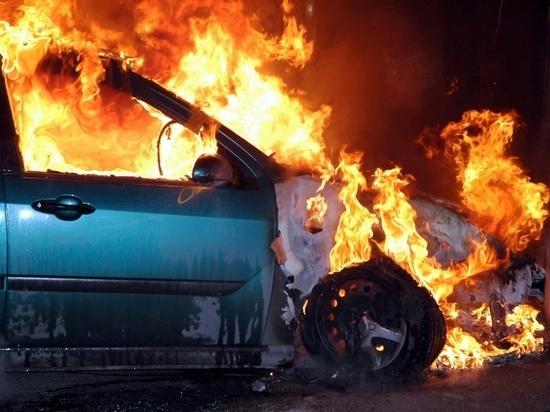 Под Багратионовском сгорел автомобиль
