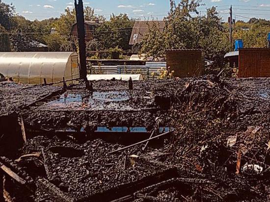 Пожилая дачница заживо сгорела в Подмосковье из-за газового баллона
