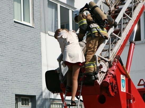 В Калининграде во время пожара эвакуировали 6 человек
