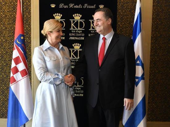 В Иерусалиме состоялась встреча главы МИД Исраэля Каца с президентом Хорватии