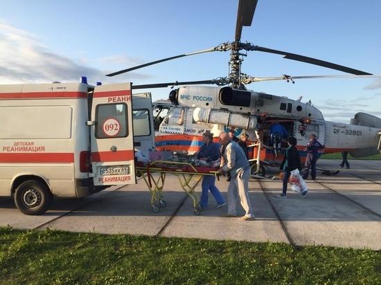 Борт МЧС России доставил мальчика в тверскую больницу