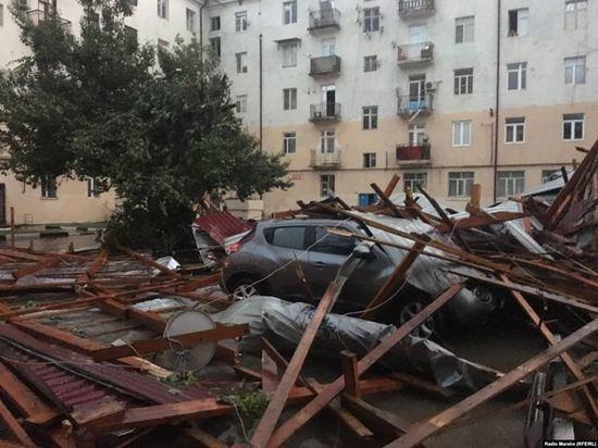 В пострадавших от урагана районах Чечни возобновили подачу света и газа