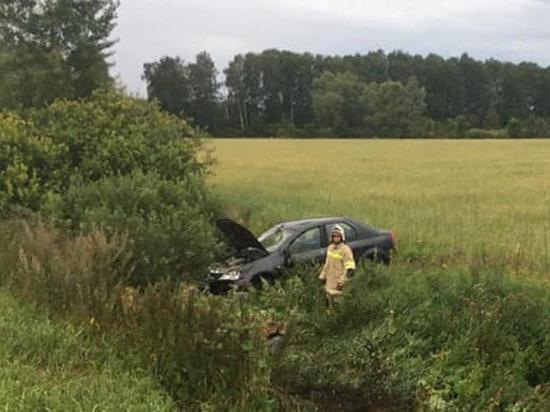 Под Уфой иномарка упала в кювет – пострадал 42-летний водитель