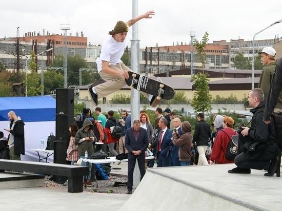 На Пролетарской набережной в Туле открыли скейт-парк