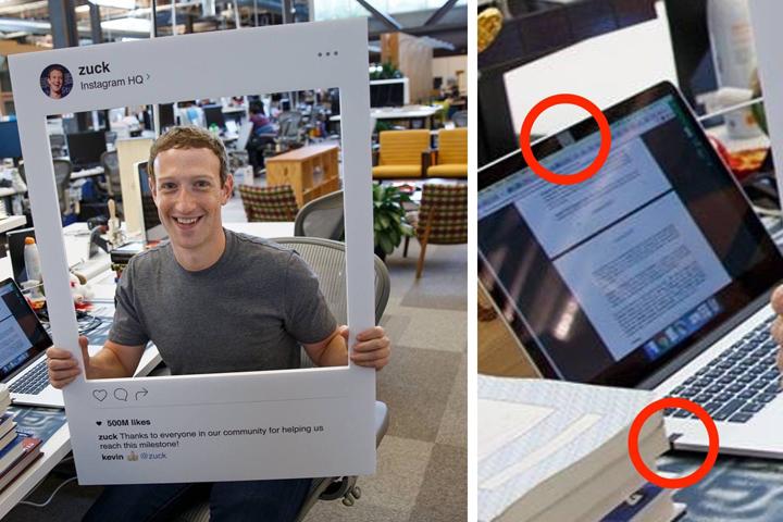 директор фейсбука заклеил камеру фото