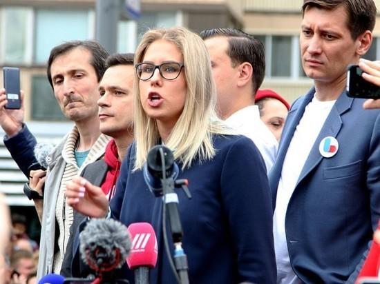 В Москве задержали Любовь Соболь возле ее штаба