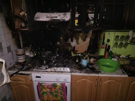 В Смоленске женщина погибла в огне, вспыхнувшем у нее на кухне