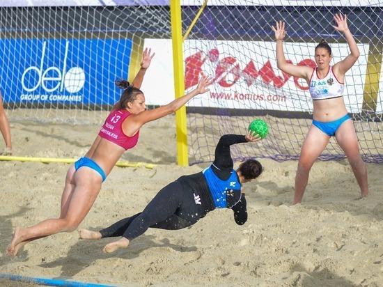 В Москве впервые проходит этап Евротура по пляжному гандболу