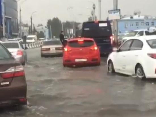 Иркутск затопило ливнем