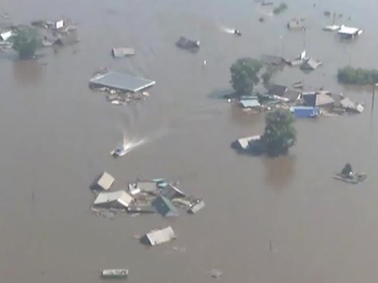 Уровень воды в реке Ия в Тулуне упал до 650 см