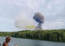 В районе Ачинска 5 августа произошел взрыв на складе боеприпасов