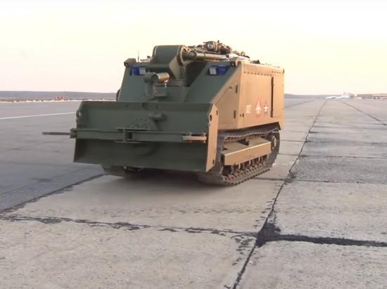 Военные решили тушить пожар в Ачинске с помощью роботов