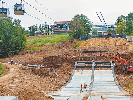 На Воробьевых горах восстановят лыжный трамплин
