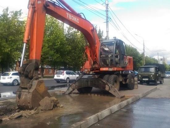 Три улицы в Липецке остались без воды из-за аварии на водопроводе