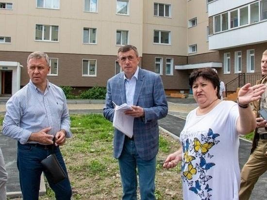 Глава региона отчитал строителей за плохое благоустройство