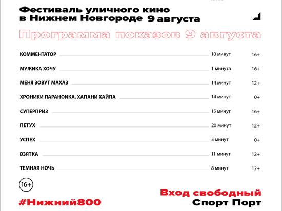 Фестиваль короткометражек в Нижнем Новгороде продолжится 9 августа