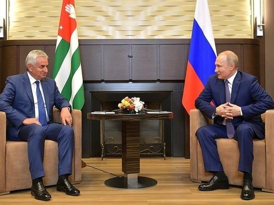 Путин обсудил с Раулем Хаджимбой предстоящие выборы в Абхазии