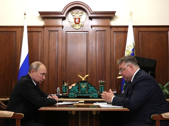 Президент провел рабочую встречу с губернатором Ставрополья Владимировым