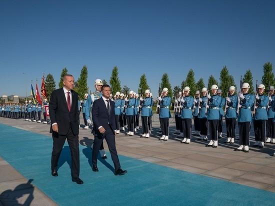 Эрдоган помог Зеленскому у президентского дворца в Анкаре