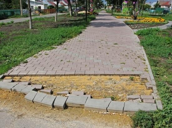 В Тамбовской области украли пешеходную дорожку