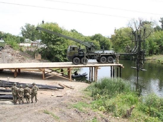 В Курске военные построят мост на Боевке