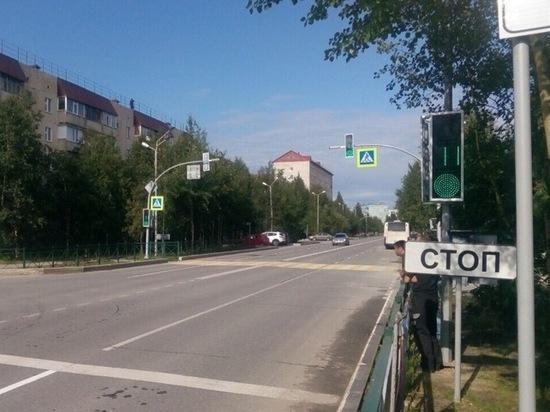 В Ноябрьске установили светофор на проблемном перекрестке
