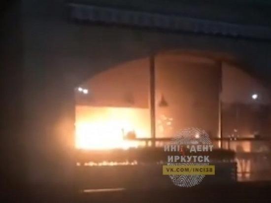 В Иркутске ночью горело кафе